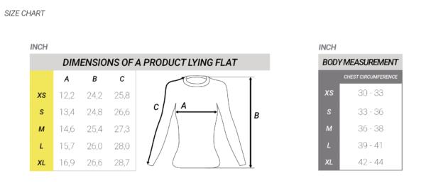 flyboard wan rashguard chart size